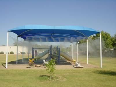 Playgrounds Applications Patio Misting Systems Mist