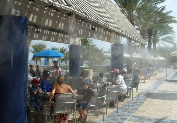 Restaurants And Resorts Applications Patio Misting