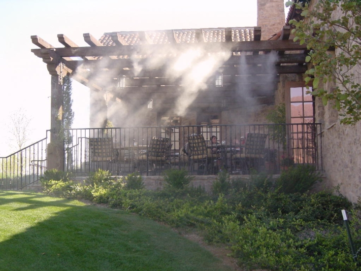 Outdoor Misting System : Industrial misting systems applications patio
