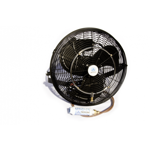 "18"" Black Misting Fan Kit"