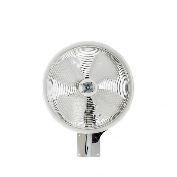 "18"" Oscillating Wall Mount Misting Fan White"