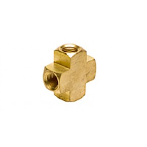 "Brass Pipe Cross 1/4"" FNPT"