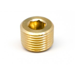 "1/8"" NPT Recessed Brass Hex Socket Plug"
