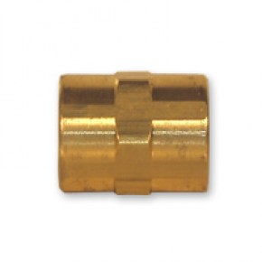 "Brass Coupling 1/4"" FNPT"