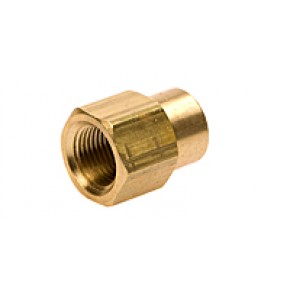 "Brass Red Coupling 1/2"" FNPT x 1/4"" FNPT"