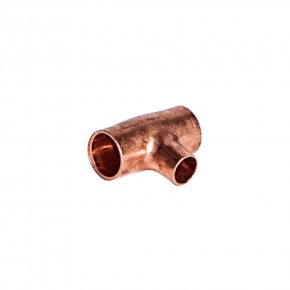"Copper Reducing Tee 3/8"" x 1/4"""