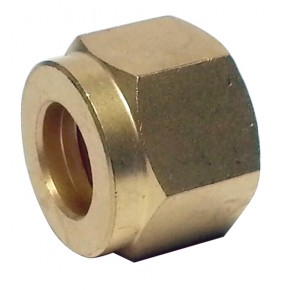 Brass Compression Nut 1/4""