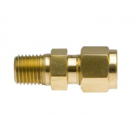 "Brass Male Adapter 1/4"" Tube x 1/4"" NPT"