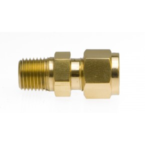 "Brass Male Adapter 1/2"" x 1/4"" MNPT"