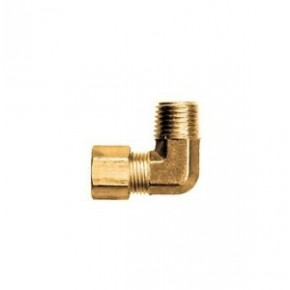 "Brass Male Elbow 1/4"" Tube x 1/8"" NPT"