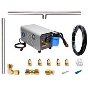 100 FT S.S. 1000 PSI Misting System w/ Enclosed Pump