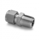 S.S. Male Connector 1/4