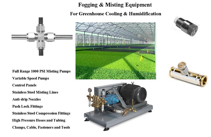 Greenhouse Misting System : Greenhouse misting patio systems mist fans fog